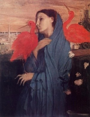 Edgar Degas - Young Woman and Ibis