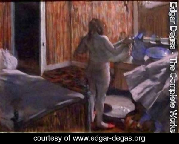Edgar Degas - Woman Drying Herself after the Bath