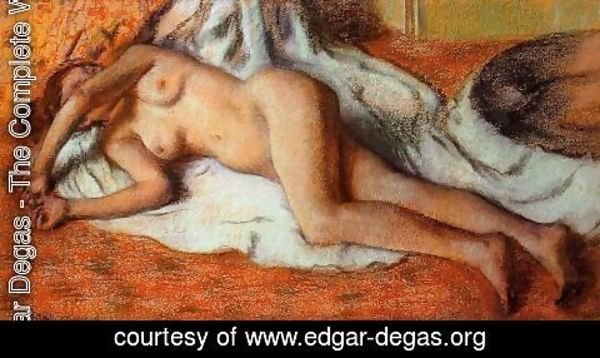 Edgar Degas - After the Bath 1885