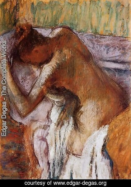 Edgar Degas - After the Bath 1900-1910