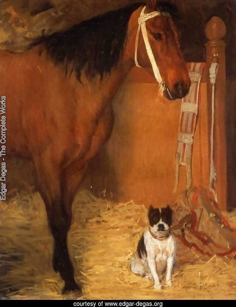 At the Stables Horse and Dog 1862
