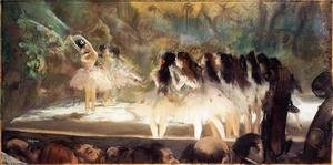 Edgar Degas - Ballet at the Paris Opers 1877