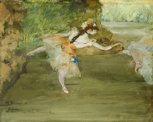 Edgar Degas - Dancer Onstage ca. 1877