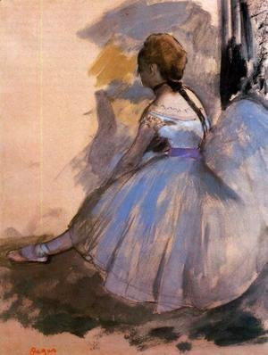 Edgar Degas - Dancer Seated (study) 1872