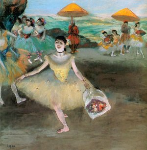 Edgar Degas - Dancer with a Bouquet Bowing 1877