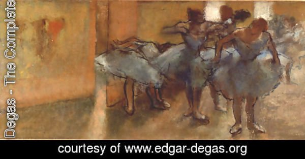 Edgar Degas - Dancers in the Foyer