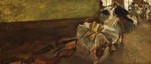 Edgar Degas - Dancers in the Rehearsal Room with a Double Bass