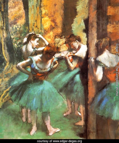Dancers Pink and Green ca. 1890
