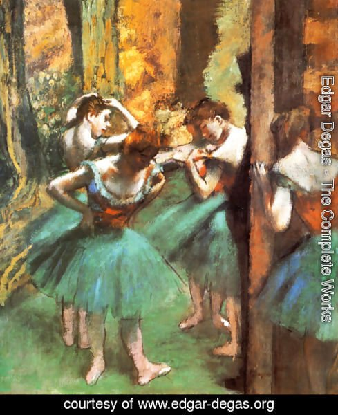 Edgar Degas - Dancers Pink and Green ca. 1890