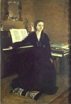 Madame Camus at the Piano