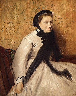 Edgar Degas - Portrait of a Woman in Gray ca. 1865