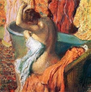 Edgar Degas - Seated Bather Drying Herself 1895