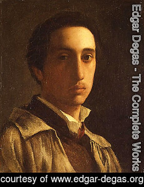 Edgar Degas - Self portrait possibly 1854