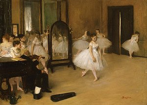 Edgar Degas - The Dancing Class probably 1871