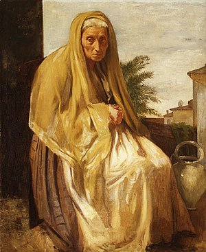 Edgar Degas - The Old Italian Woman 1857