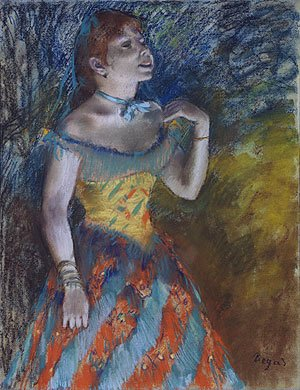 Edgar Degas - The Singer in Green ca. 1884