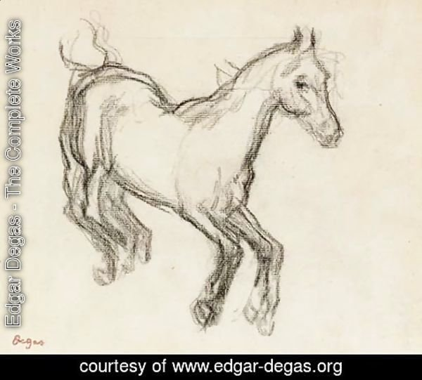 Edgar Degas - Cheval galopant