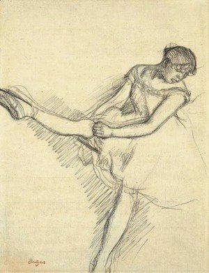 Edgar Degas - Danseuse assise, reajustant son bas