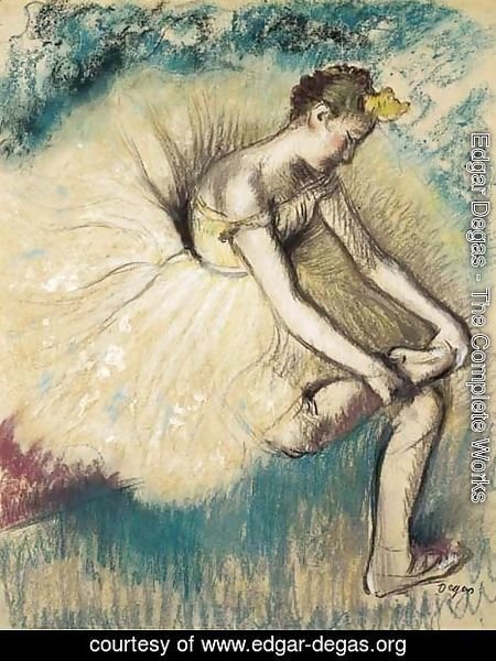 Edgar Degas - Danseuse attachant sa chaussure