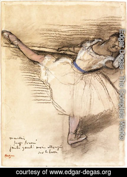 Edgar Degas - Danseuse pratiquant  la barre (Dancer practicing at the Bar)