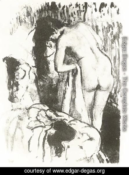 Edgar Degas - Nude Woman Standing, Drying Herself