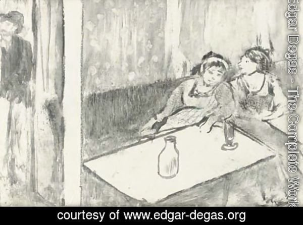 Edgar Degas - Women in a cafe (Femmes au cafe)