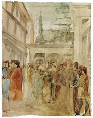 Edgar Degas - A Copy After Gozzoli's Fresco, Joseph And His Brothers In Egypt