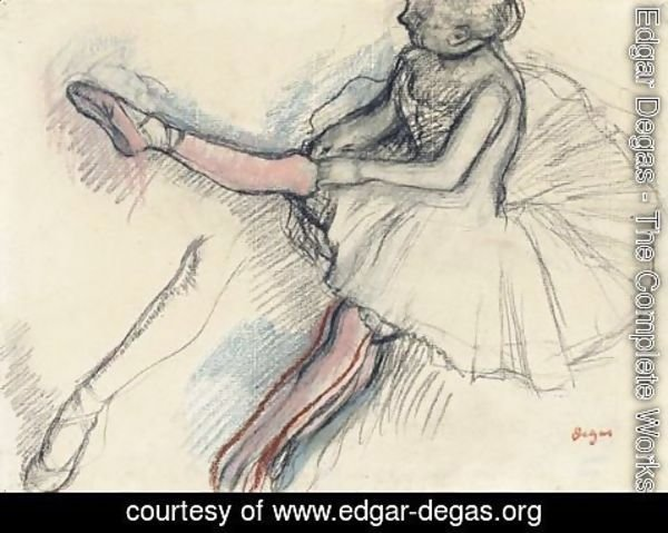 Edgar Degas - Danseuse Rajustant Son Collant