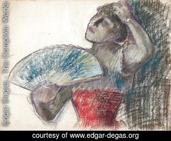 Edgar Degas - Danseuse A L'eventail 2