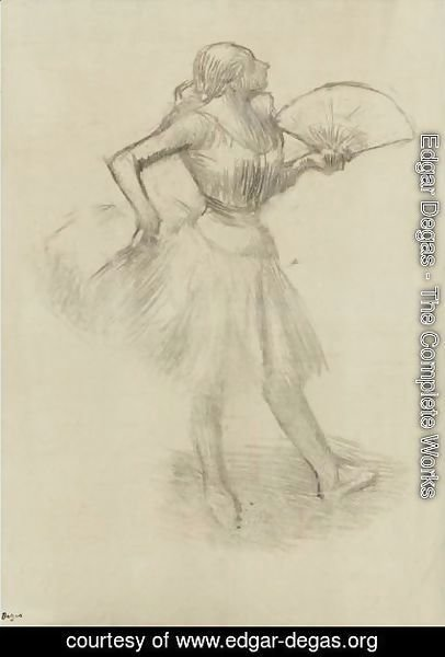 Edgar Degas - Danseuse A L'eventail 3