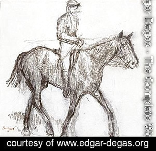 Edgar Degas - Cheval Et Jockey