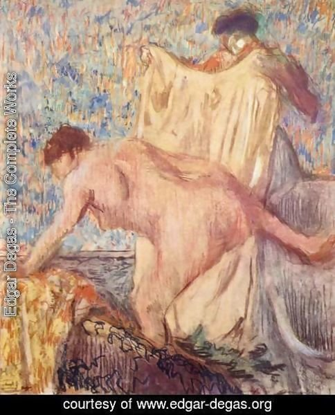 Edgar Degas - Exit from the bathtub