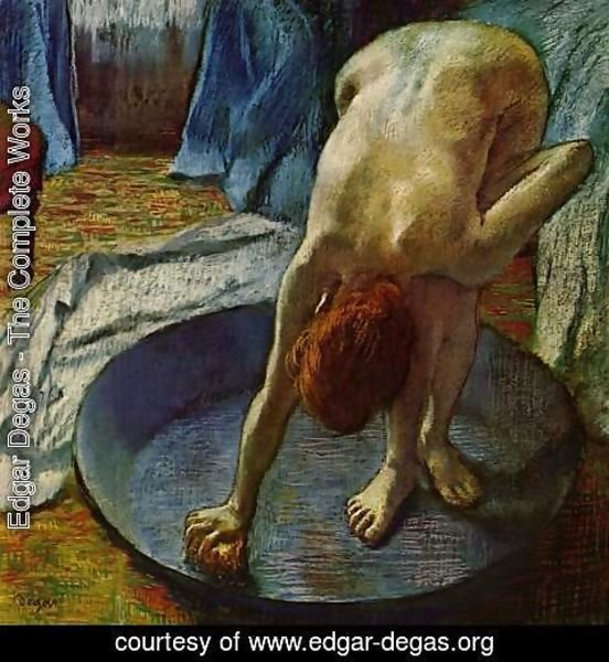 Edgar Degas - Woman in the bathtub