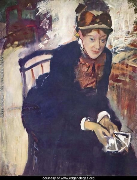 Portrait of Miss Cassatt, holding the cards