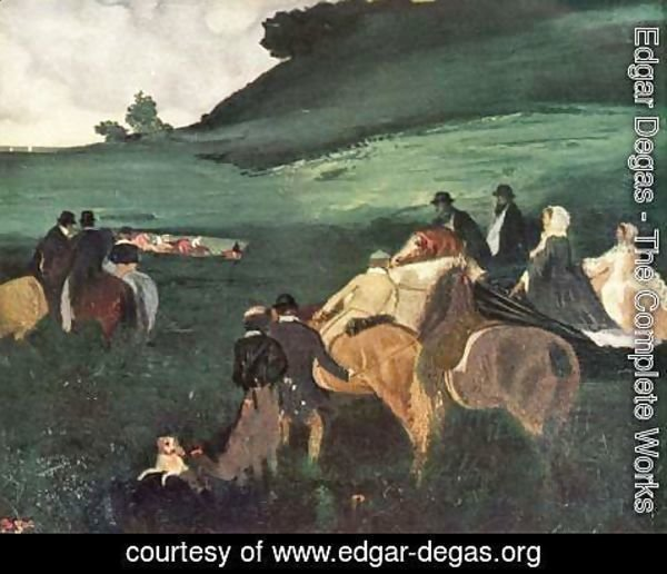 Edgar Degas - Riders in a Landscape