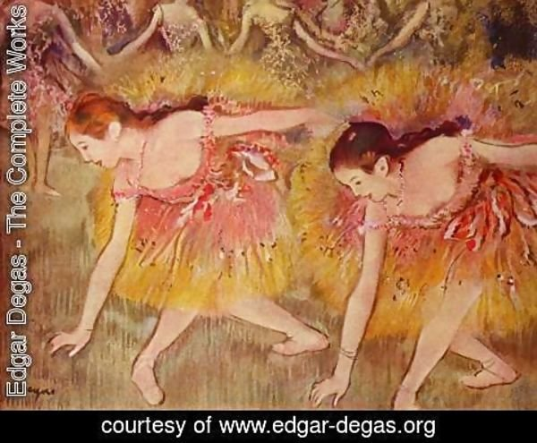Edgar Degas - Bowing dancers
