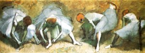 Edgar Degas - Dancers bounding their shoes