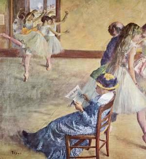 Edgar Degas - During the dance classes at madame Cardinal