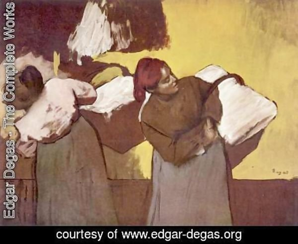 Edgar Degas - Two women washing