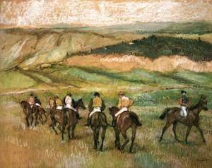 Edgar Degas - Before the Race 2