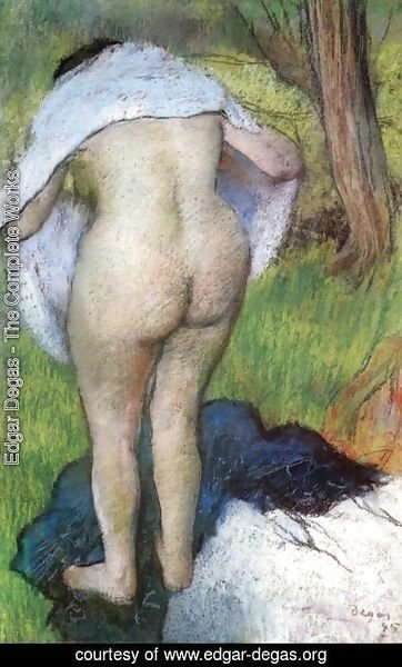 Edgar Degas - After the Bath. Woman Drying Herself