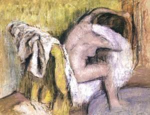 Edgar Degas - Woman Seated, Drying Herself