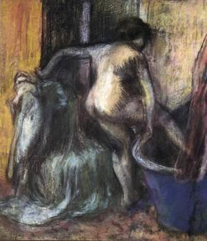 Edgar Degas - Nude Stepping into a Bathtub