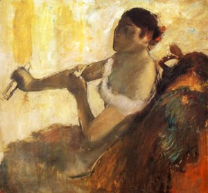 Edgar Degas - Seated Woman pulling her glove