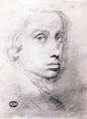 Edgar Degas - Study for the Self Portrait