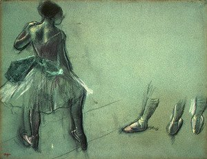 Dancer Seen from Behind and 3 Studies of Feet