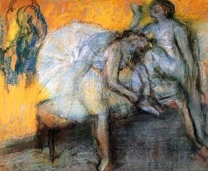 Edgar Degas - Two Dancers in Yellow and Pink 2