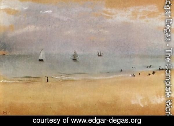 Edgar Degas - Beach with Sailing Boats