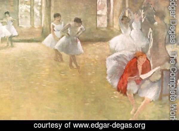 Edgar Degas - Dancers in the Rehearsal Hall