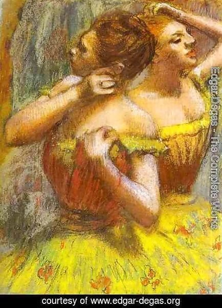 Edgar Degas The Complete Works Two Dancers Pastel On